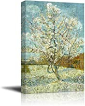 wall26 The Pink Peach Tree by Vincent Van Gogh - Canvas Print Wall Art Famous Oil Painting Reproduction - 24