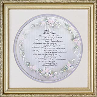 Dicksons Marriage Takes Three Script Florals Pale Lavender 13 x 13 Wood Wall Sign Plaque
