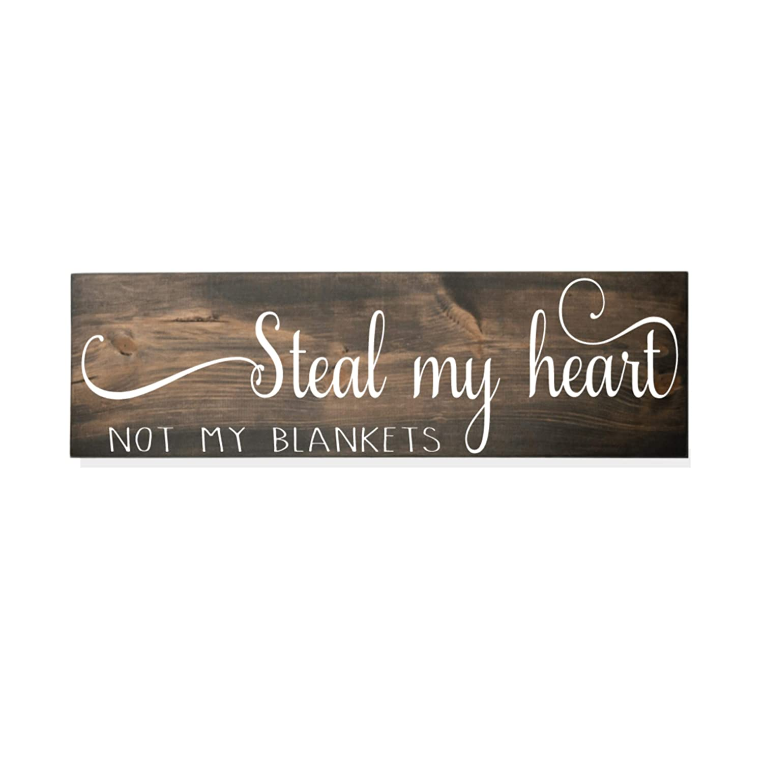 Steal my heart Time sale not blankets wood decor sign bedroom Master latest fa