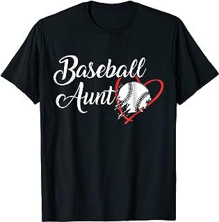 Baseball aunt T-Shirt Aunt Great Aunt Cute Gift