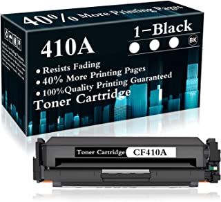 1 Pack 410A   CF410A Toner Cartridge Replacement for HP Color Laserjet Pro MFP M477fdn M477fdw M477fnw M452dn M452dw M452nw MFP M377dw Printer,Sold by TopInk