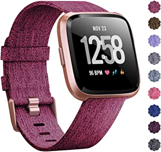 KIMILAR Compatible Versa Bands, Women Men Large Small Woven Fabric Breathable Accessories Strap Compatible Versa Smart Watch