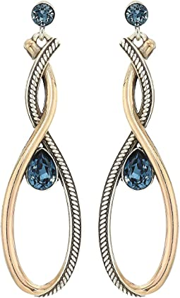Neptune's Rings Infinity Gems Post Drop Earrings