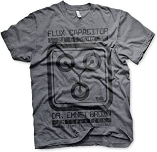 Officially Licensed Flux Capacitor Mens T-Shirt (Dark Heather)