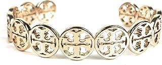Tory Burch Frozen Logo Cuff Bracelet Goldtone Womans