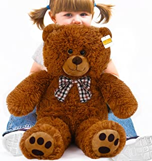 cucunu Teddy Bear 20 Inch Small Plush Bears in White Brown Big Stuffed Animal for Kids Large 1.6 Feet