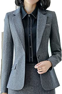 Business Blazer Women Fashion Clothes Formal Interview Long Sleeve Slim Jacket Office Ladies Work Coat