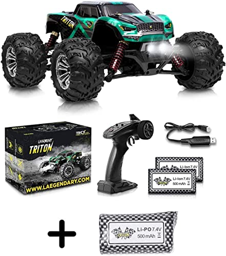 2021 1:20 Scale RC Cars 30+ discount sale kmh High Speed - Boys Remote Control Car 4x4 Off Road Monster Truck Electric - Waterproof Toys Trucks for Kids and Adults - 3 x 500 mAh 7.4V 2S Li-Ion Batteries online sale