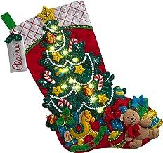 BUCILLA 86710 Christmas Tree Surprise Stocking Kit