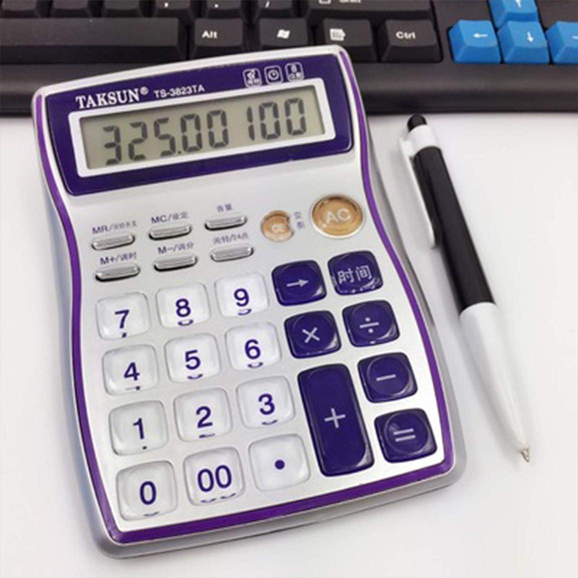 アラビア語コミュニケーション憧れかわいいボイス電卓クリスタル透明ボタンミディアムファイナンシャルスペシャルコンピュータ事務用品