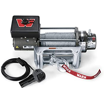 """WARN 26502 M8000 Series Electric 12V Winch with Steel Cable Wire Rope: 5/16"""" Diameter x 100' Length, 4 Ton (8,000 lb) Pulling Capacity"""