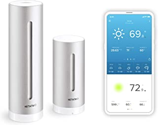 Netatmo Weather Station Indoor Outdoor with Wireless Outdoor Sensor - Compatible with Amazon Alexa & Apple HomeKit