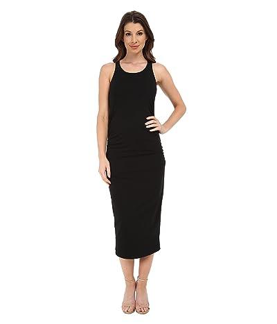 Michael Stars Racerback Dress w/ Shirring (Black) Women