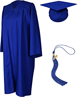 GradPlaza Unisex Graduation Gown with Cap and Tassel 2019 Matte Robe