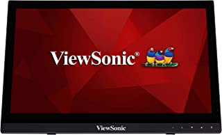 """ViewSonic TD1630-3 16"""" 768p HD 10-Point Touch Screen Monitor, Black"""