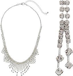 Nina - Art Deco Burst Collar Necklace w/ Earrings