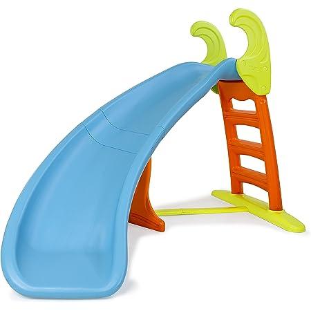 FEBER - Slide Curve con agua, tobogán Curvo equipado con conexión de agua, colores luminosos, escaleras antideslizantes, resistente y seguro para los pequeños a partir de 3 años, FAMOSA (800008359)
