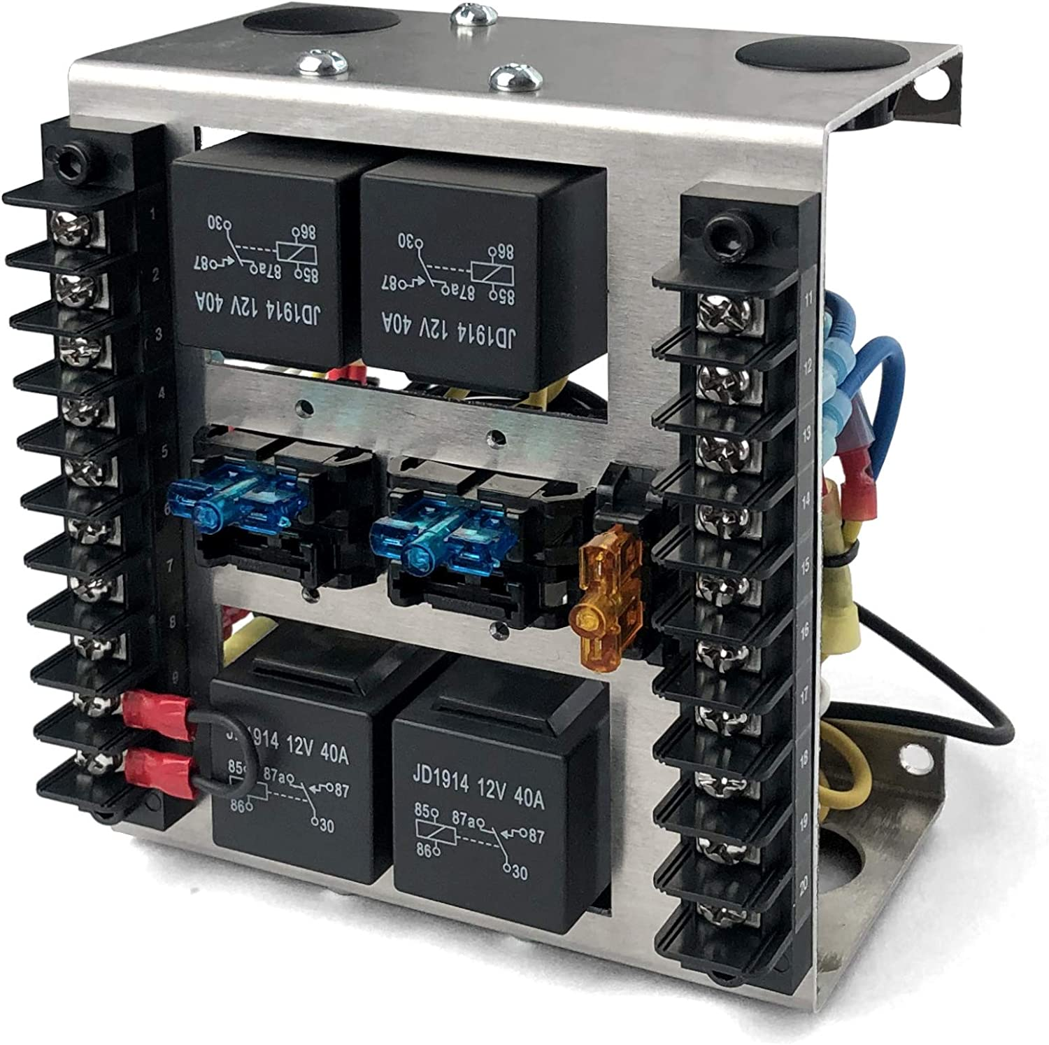 MGI SpeedWare 4 Relay Box with Fuses Custom security Built-In New arrival for C 12vDC