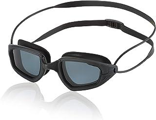 Speedo Covert Polarized Swim Goggles, Wide-Angle, Curved, Watertight Triathlon Goggles