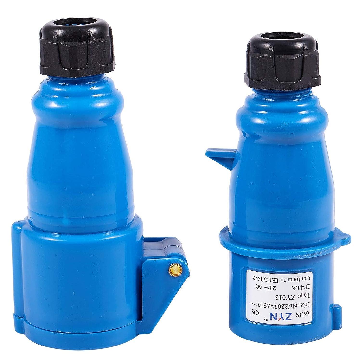 主要な国際驚いたことにVaorwne 防水 IEC309-2 2P+E 産業用プラグソケット AC 220-240V 16Aアンプ