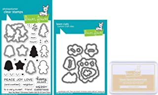 Lawn Fawn - Cookie Set - How You Bean? Christmas Cookie Add-On Stamp & Die Set with Sugar Cookie Ink Pad - 3 Items