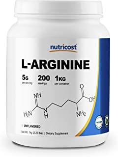 Nutricost L-Arginine Powder 1KG - Pure L-Arginine, 5g Per Serving