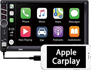"""$52 » Binize 7 Inch Double Din Touchscreen Car Stereo Radio with Apple Carplay/MP5 Player,7"""" Head Unit with Bluetooth,Audio,FM,R..."""