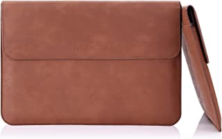 MoKo 15.4-Inch Laptop Sleeve Bag, Protective PU Leather Notebook Case for Apple MacBook Pro 15