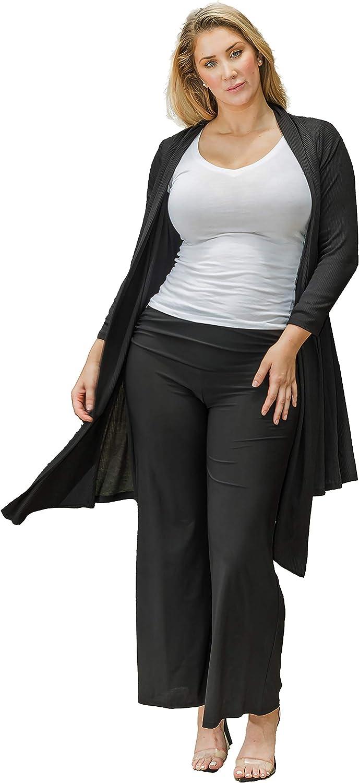 Funfash Plus Size Women Black Kimono Long Cardigan Duster Sweater Jacket Coat