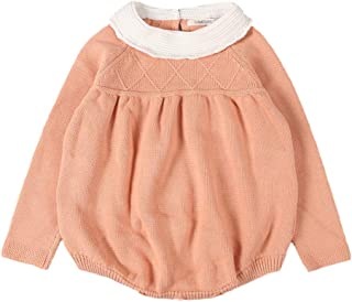 TZOU Baby Toddler Children Cute Long Sleeve Cotton Jumpsuit Romper Charming Orange 5Y (120cm)