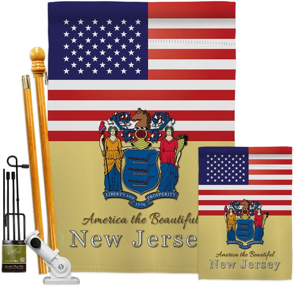 States US Max 57% OFF New Jersey Garden Brand new House Kit USA Regional Flags America