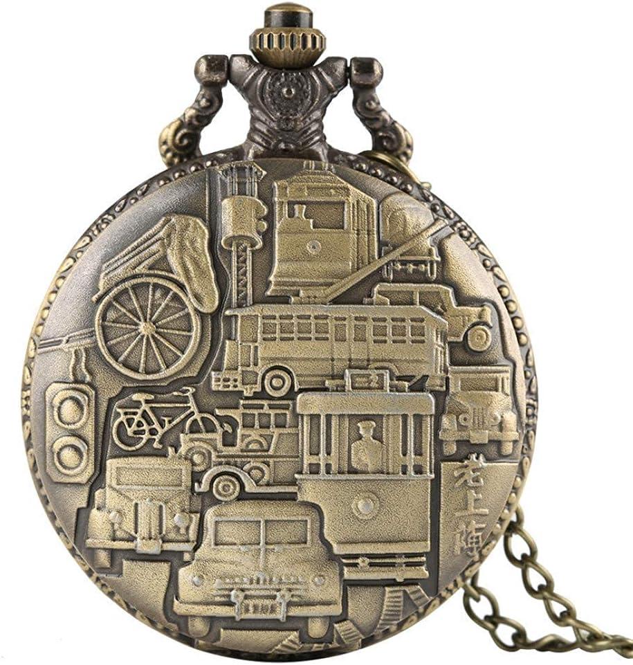 FZYE Reloj de Bolsillo Vintage, Reloj de Bolsillo de Cuarzo Antiguo de Shanghai Antiguo, Colgante, Reloj Informal para Hombre y Mujer, Reloj, Regalos de cumpleaños con Caja