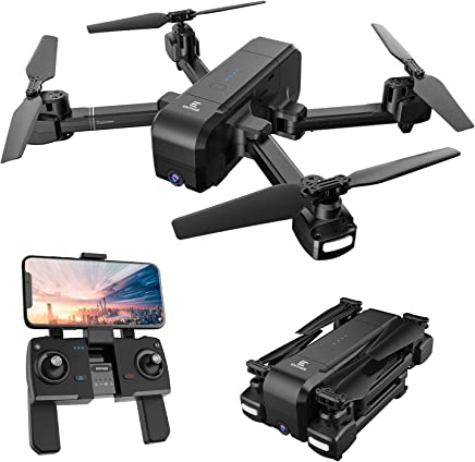 Enther GPS 5G FPV Drone with 1080P FHD Camera Live Video, Foldable Folding RC Quadcopter with Altitude Hold, GPS Return Home, Follow Me, and Bonus Battery for Beginners, Kids, and Adults