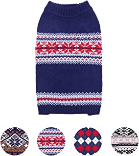 Blueberry Pet 8 Patterns Nordic Fair Isle Snowflake Dog Sweater and Matching Sweater for Pet Lover