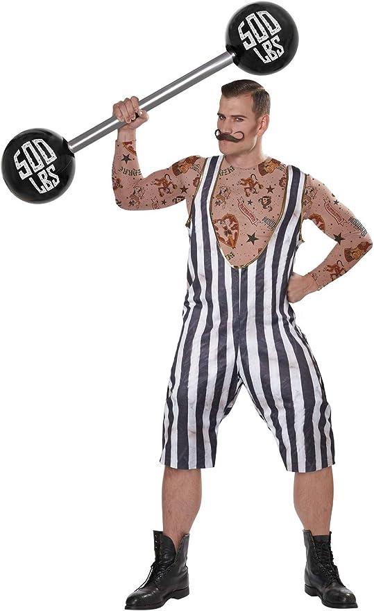 1920s Men's Costumes: Gatsby, Gangster, Peaky Blinders, Mobster, Mafia Mens Vintage Circus Strongman Adult Halloween Costume  AT vintagedancer.com
