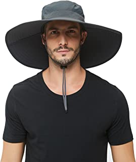 Super Wide-Brim Outdoor Sun hat For Men,Fishing Hat UPF 50+ UV Sun Protection Waterproof Bucket Hat