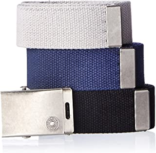 Men's Casual Web Belts- Cut To Fit 3 Pack With Buckle