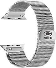 Game Time Green Bay Packers Stainless Steel Mesh Band Compatible with Apple Watch - 42mm/44mm