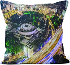 Nine City Downtown Shanghai at Night Burlap Pillow,HD Printing for Couch Sofa Bedroom Livingroom Kitchen Car,18
