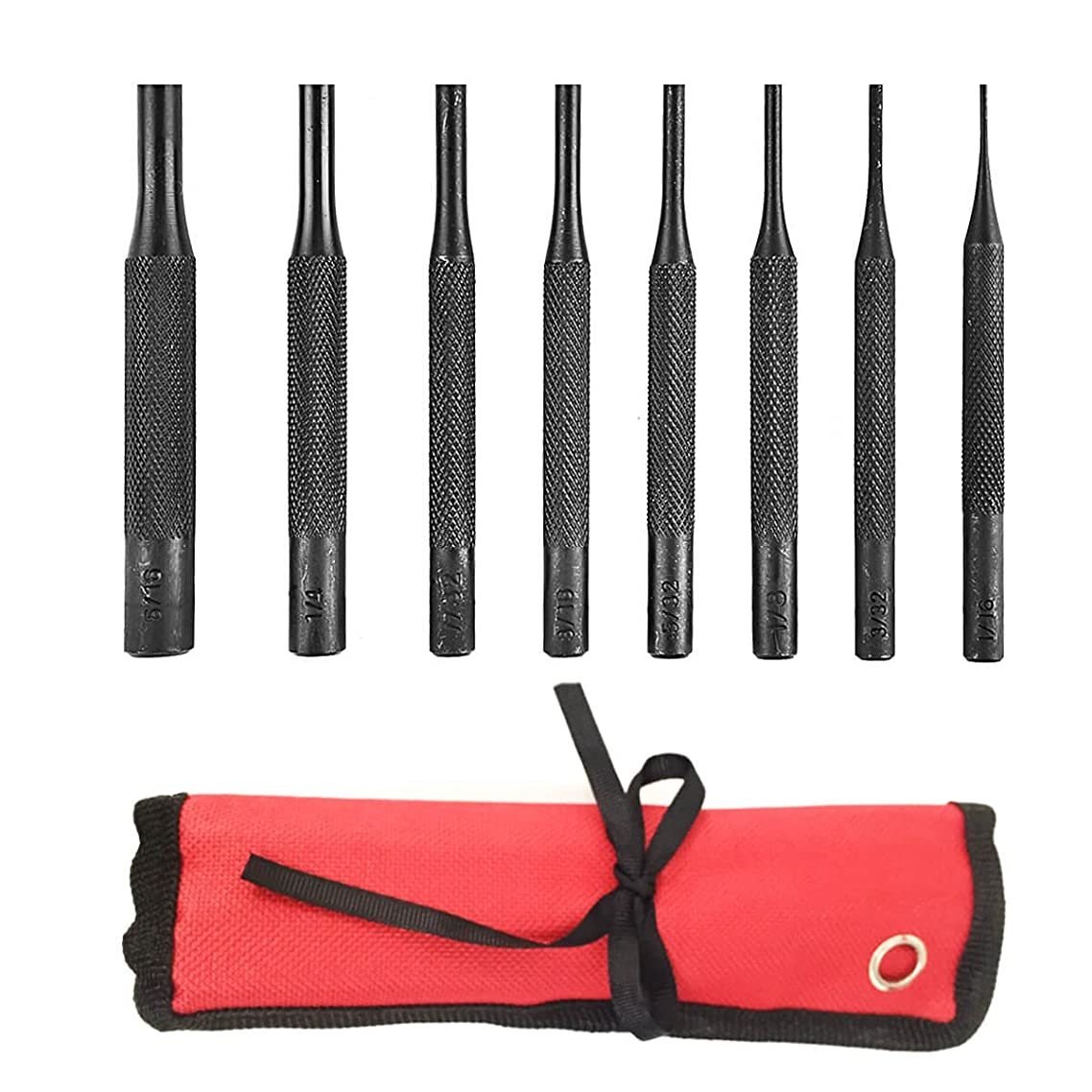 8 Pieces Pin Punch Set Tool - for Woodwork/Machinery/Gunsmith/Repairs and Crafts by Xage
