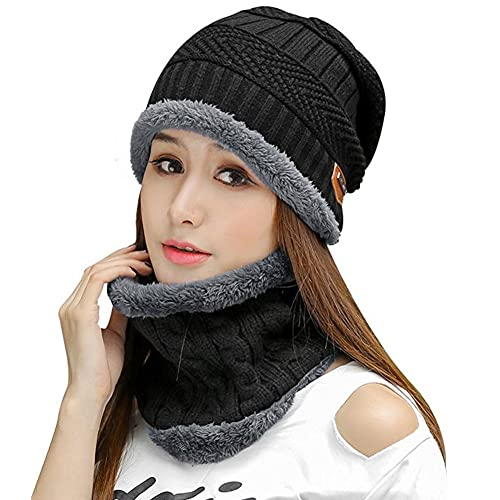 8042aa4c HINDAWI Womens Slouchy Beanie Winter Hat Knit Warm Snow Ski Skull Cap