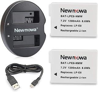 Newmowa LP-E8 互換バッテリー 2個 + 充電器 セッ Canon LP-E8 Canon EOS 550D 600D 650D 700D EOS Rebel T2i T3i T4i T5i EOS Kiss X4 X5 X6i X...