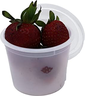 Vito's Famous Deli Container with Lid, 4 Ounce (Pack of 100)   Tight Seal   Freezer Safe   Microwave Safe   Perfect for Food Portioning