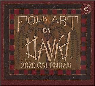 Legacy 2020 Mini Wall Calendar, 6.75 x 6-Inches, Folk Art by David