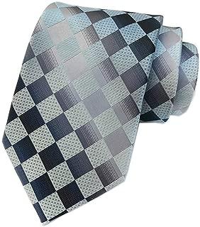 Mens Modern Checks Ties Tartan Plaid Gingham Stripe Pattern Formal Suit Dress Neckties