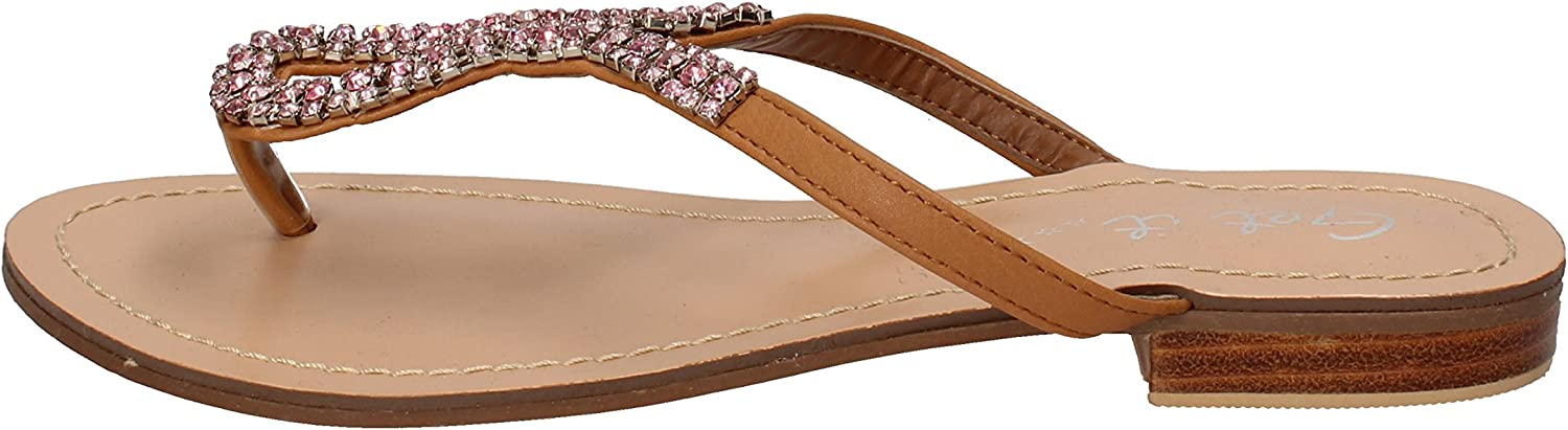 GET IT Sandals Womens Leather Brown