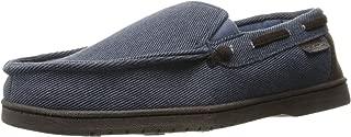dark blue moccasins