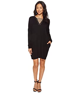Chloe Long Sleeve Strappy Dress with Grommet Detail