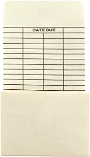 Hygloss Products Manila Library Pockets – Self Adhesive Due Date Envelopes – 6.25 x 3.5 Inches, 500 Pack