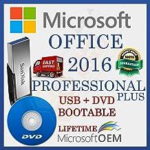 MS Office 2016 Professional PLUS   Con controlador USB y DVD   Licencia minorista   Versión completa   Envío de entrega   Configuración automática lista para iniciar   NUEVO   Idioma: Español  